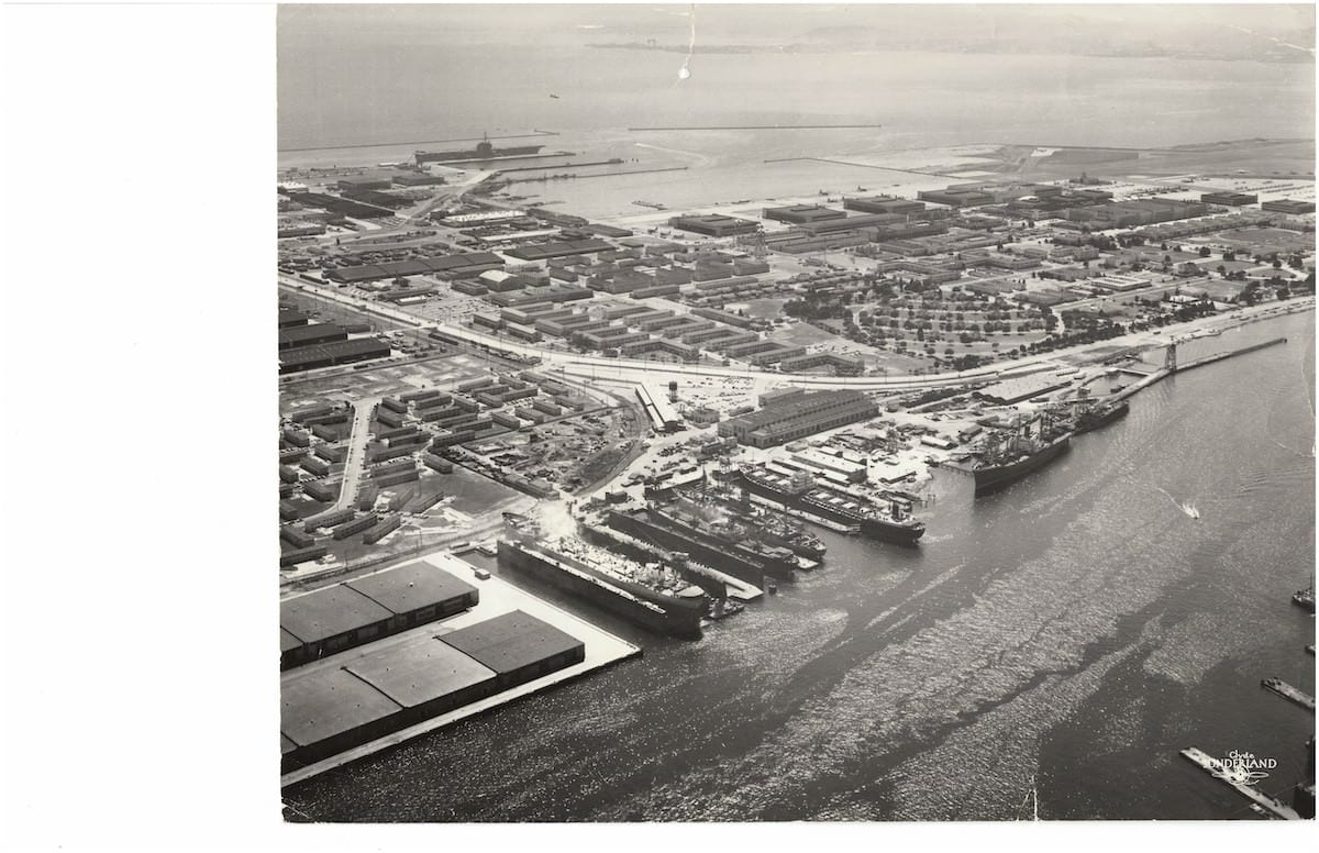 Bay ship Historic Aerial 1
