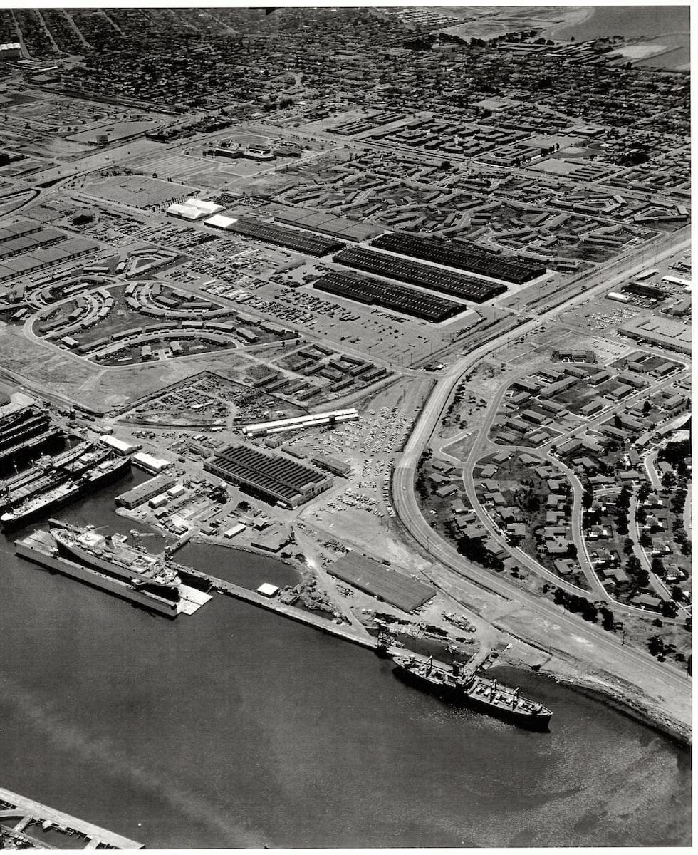 Bay ship Historic Aerial 2