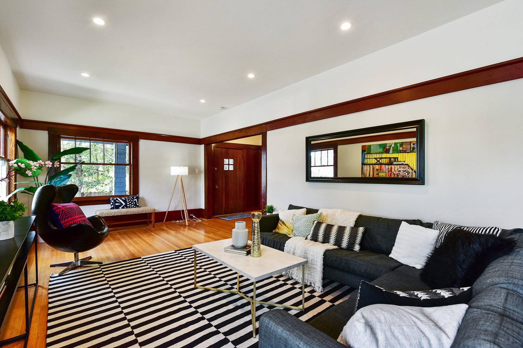 Alameda Craftsman Remodel Living Room