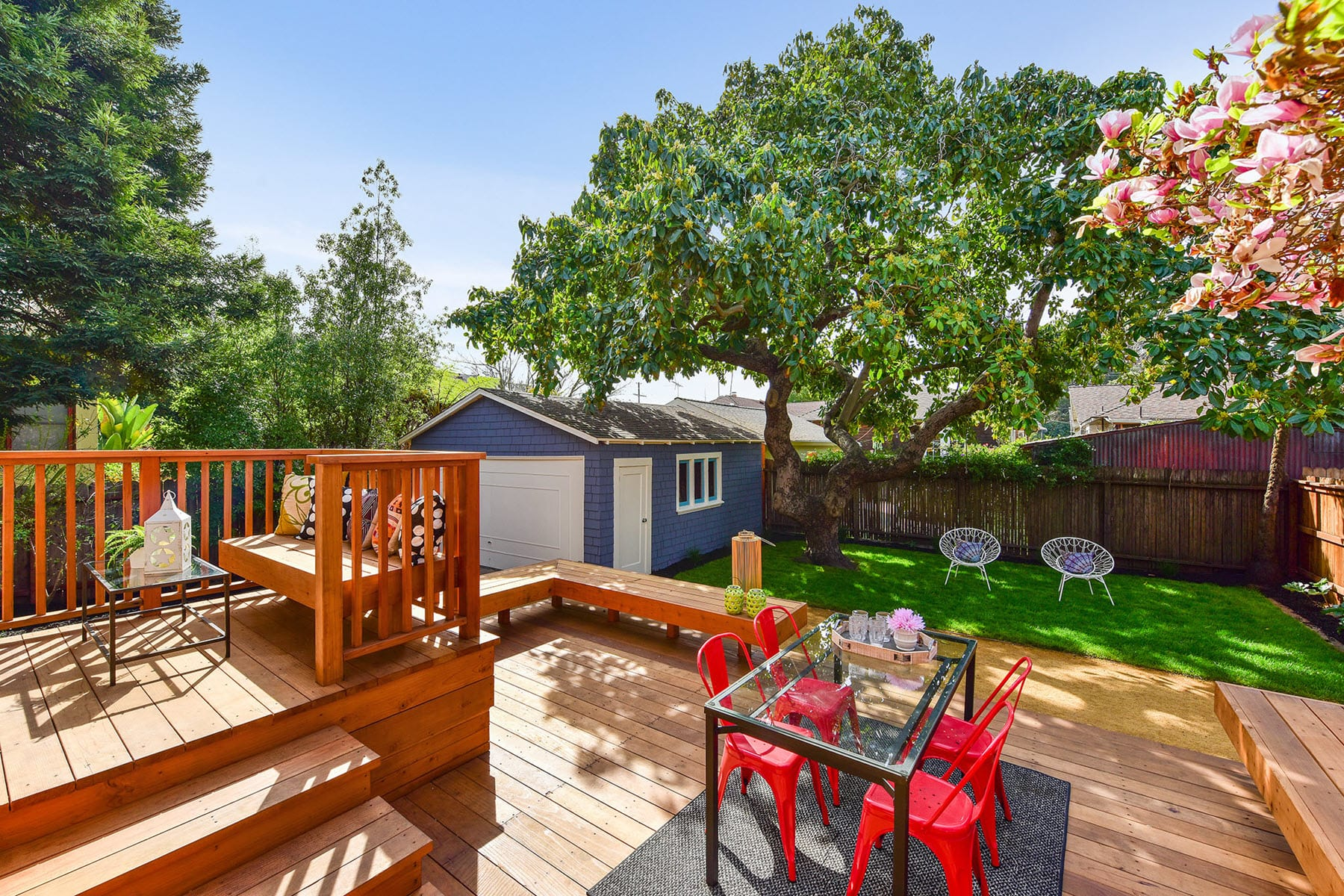 Alameda Craftsman Remodel Backyard