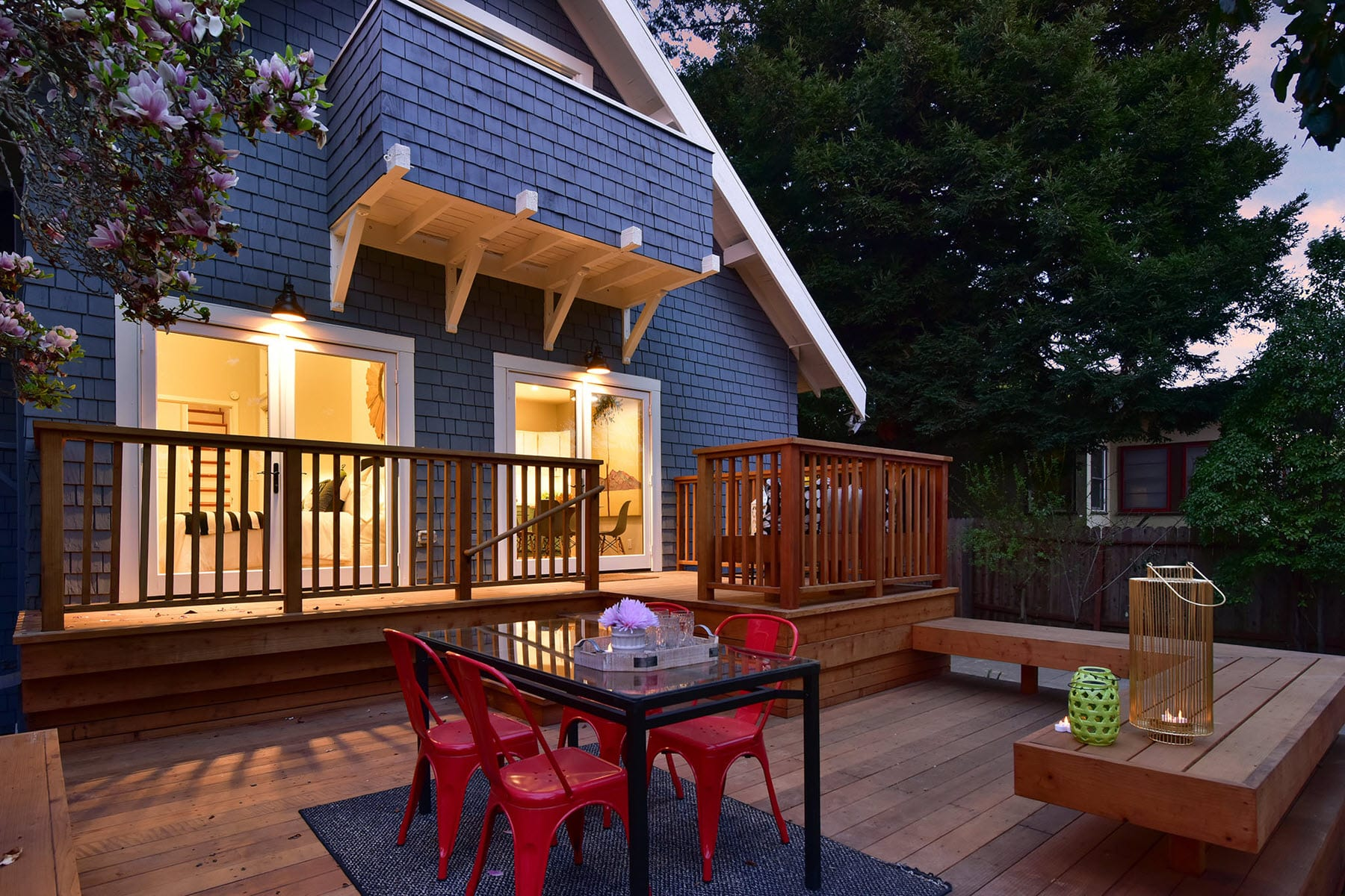 Alameda Craftsman Remodel Twilight Deck