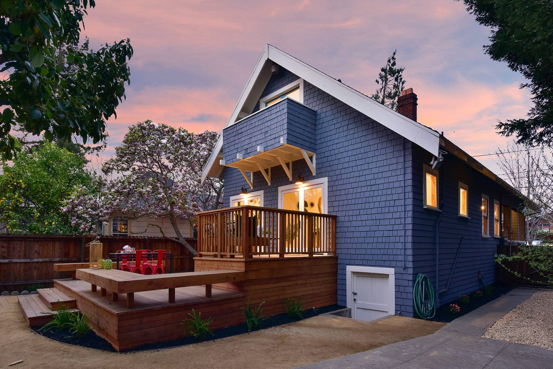 Alameda Craftsman Remodel Backyard Deck