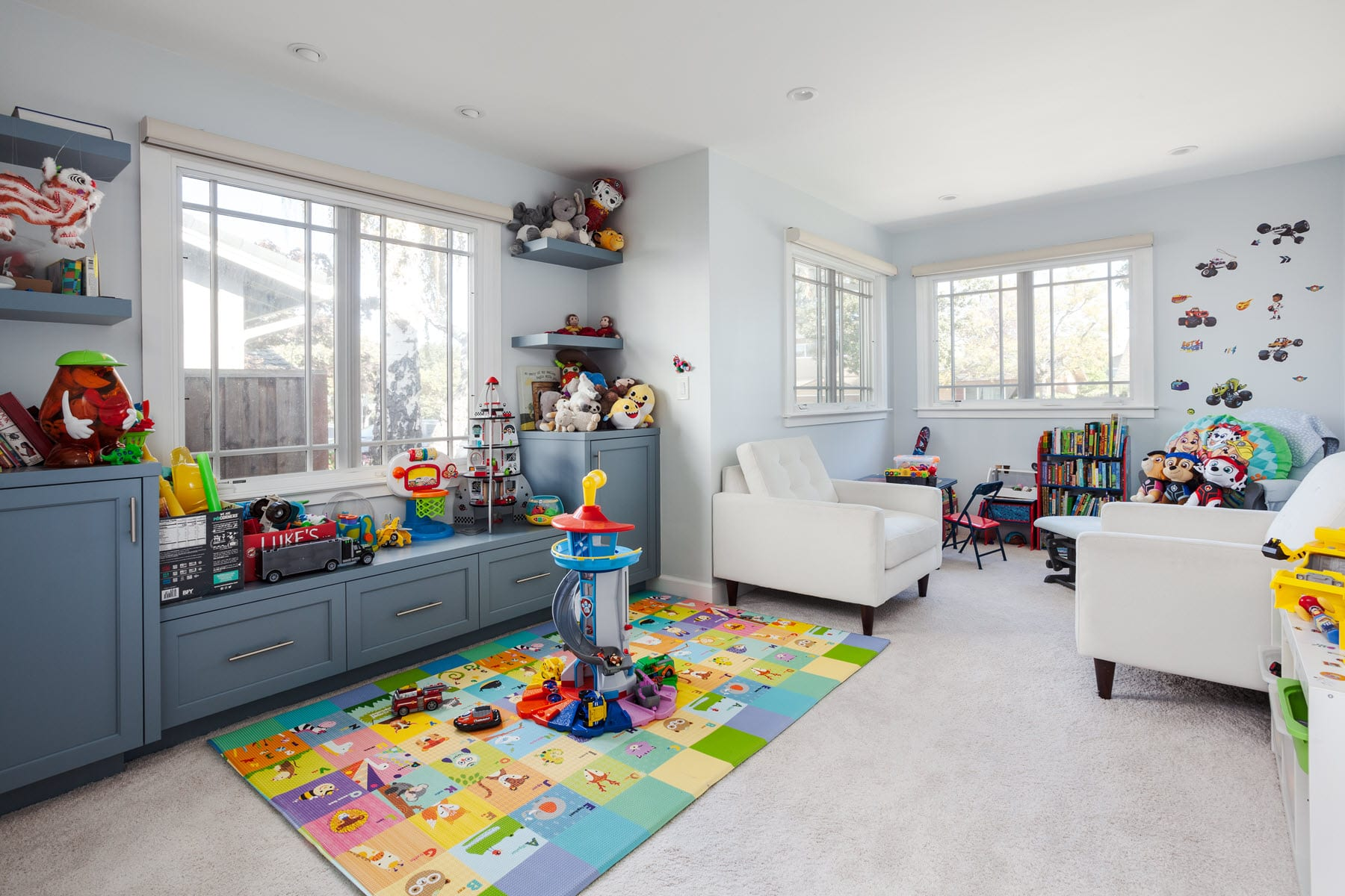 Sunnyvale Modern Ranch Playroom