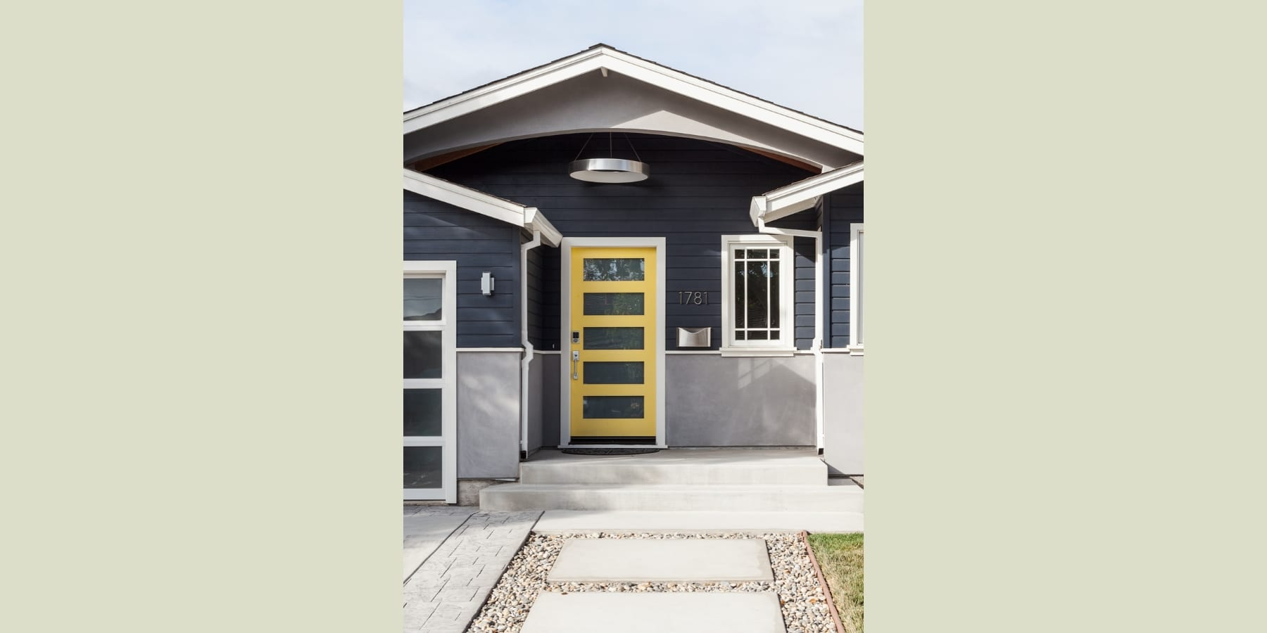Sunnyvale Modern Ranch Yellow door