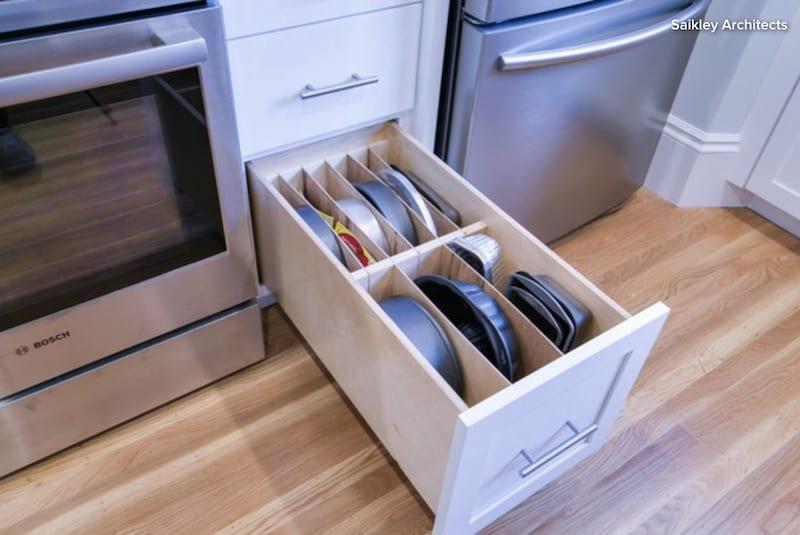 Houzz organize kitchen Saikley Architects